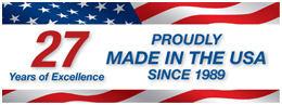 Proudly Made in the USA Since 1989