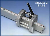 Basic saw stop unit for 45 degree cuts